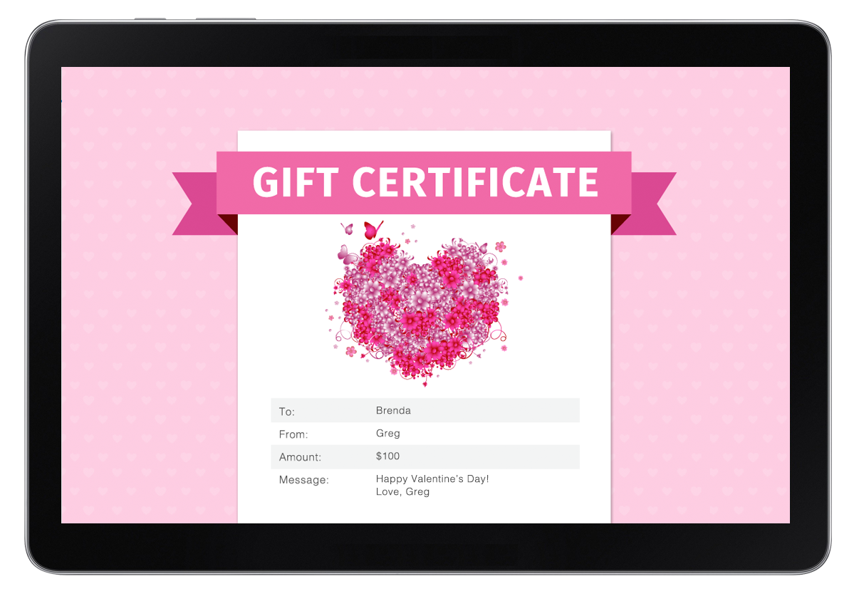 gift certificates to sell more massage treatments