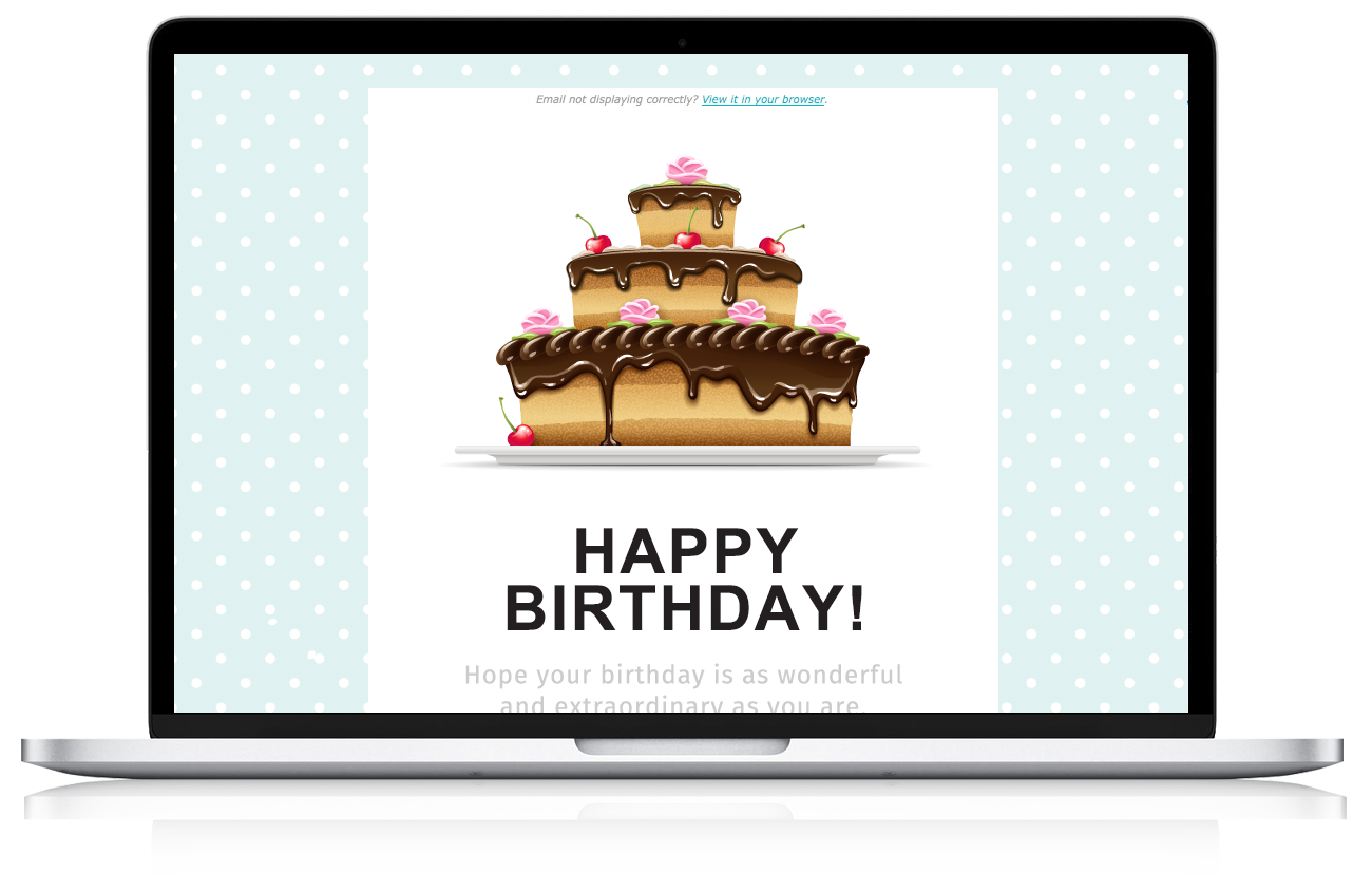 online marketing birthday email