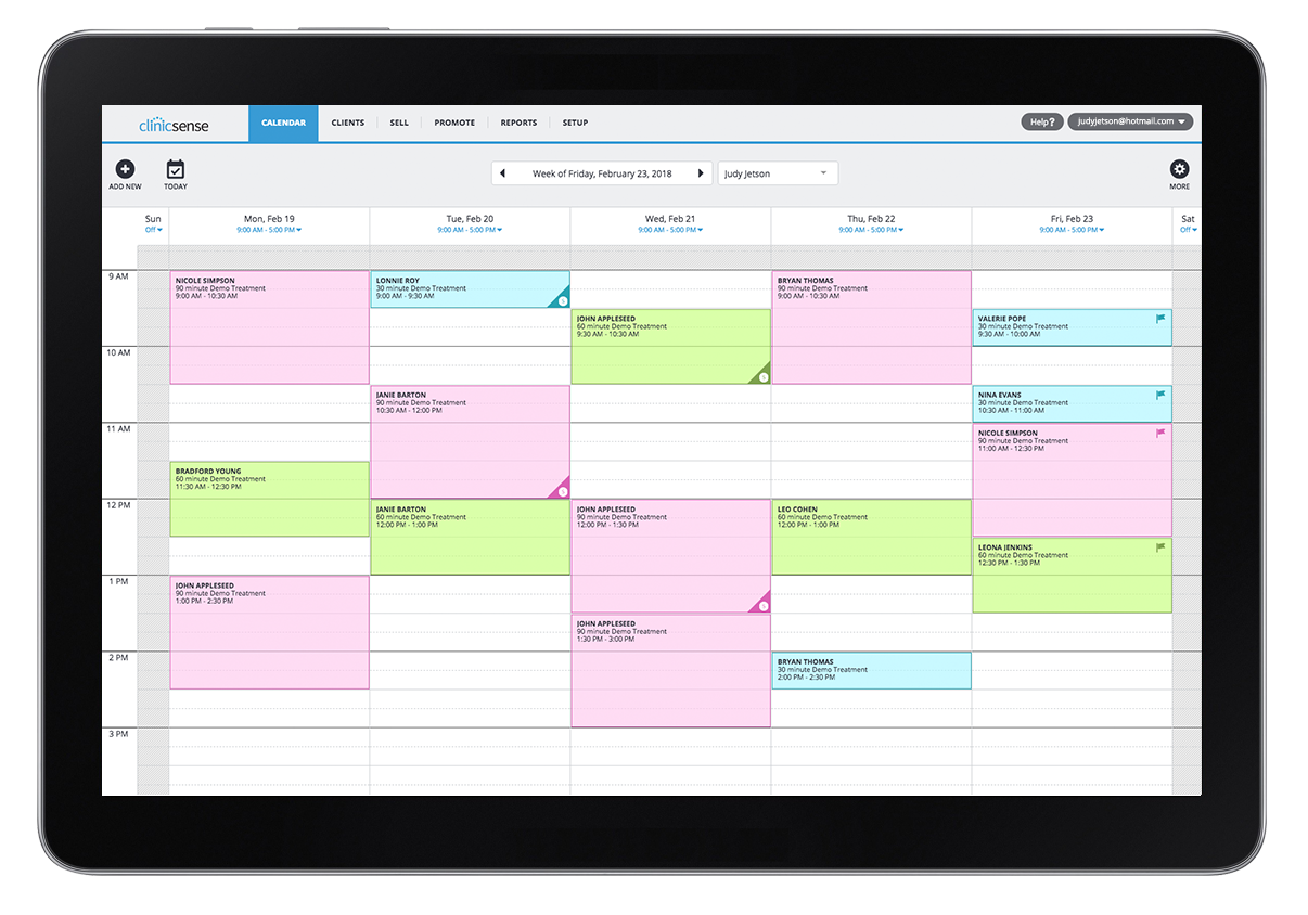 booking and scheduling for clients