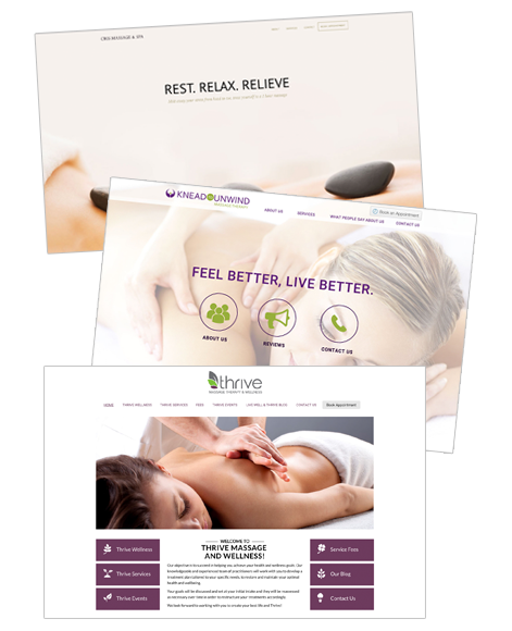 website for massage therapists